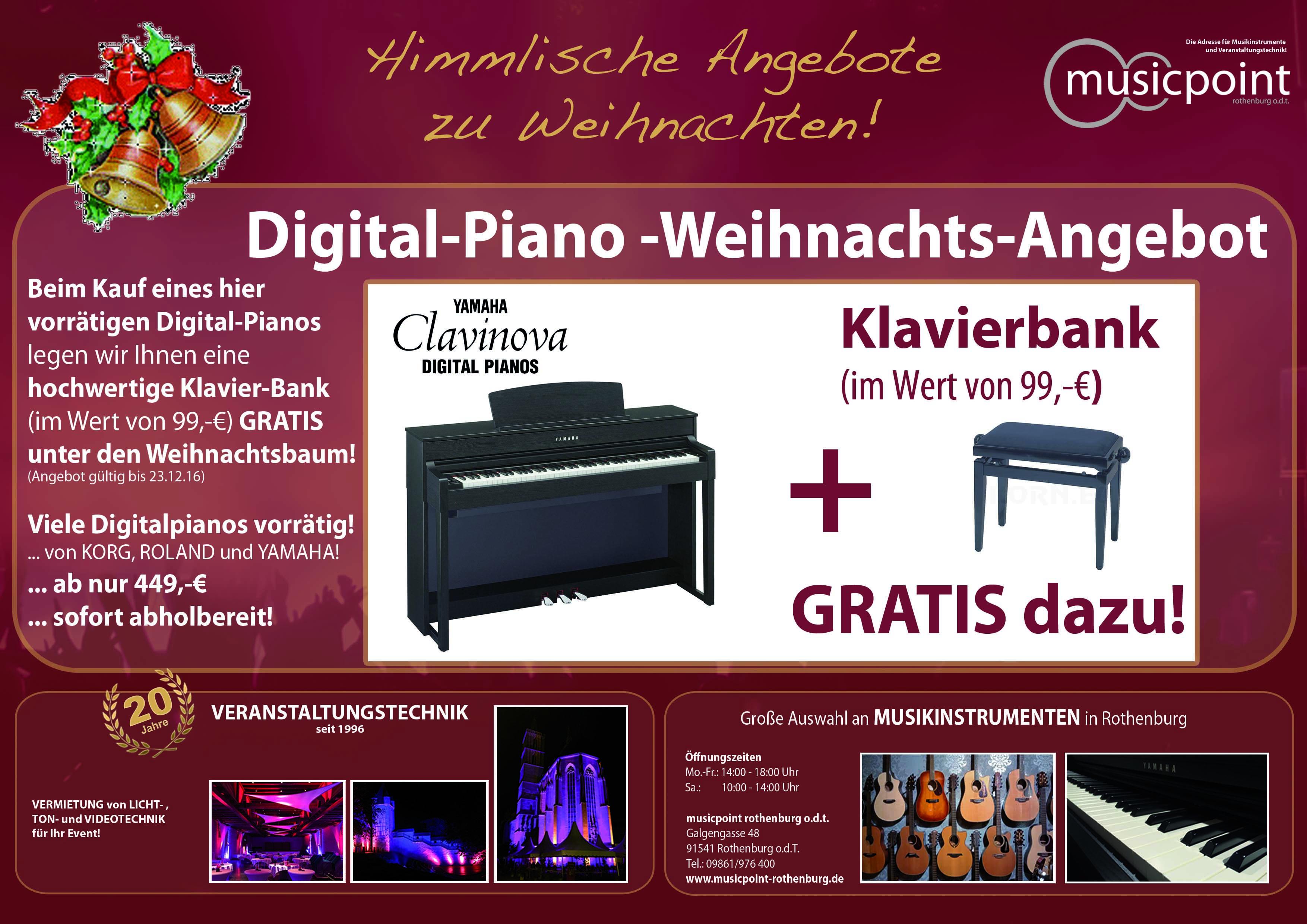 Digital-Piano-Weihnachtsangebot