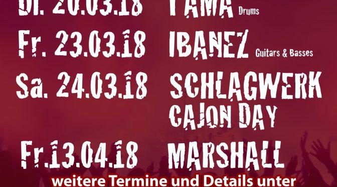 Neuheiten-Wochen im Musicpoint Rothenburg! TAMA / IBANEZ / SCHLAGWERK / MARSHALL