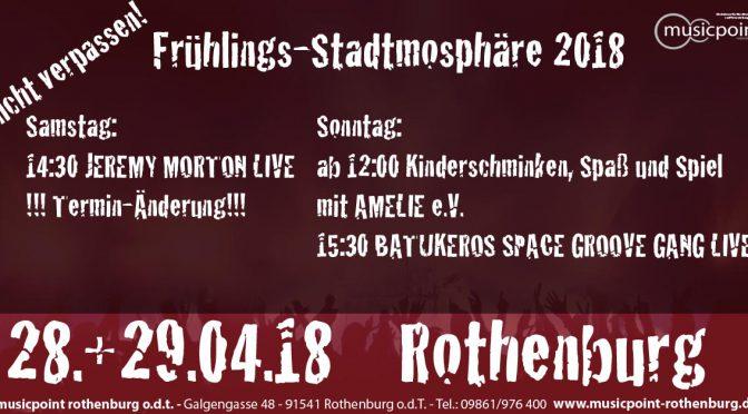 Frühlings-Stadtmosphöre 2018 – 28.+29.04.2018