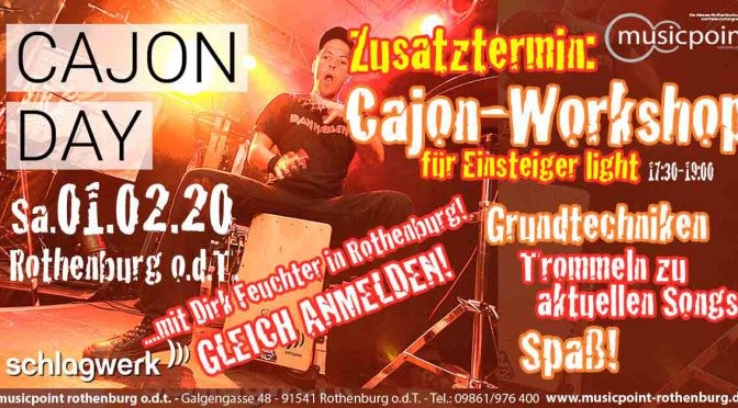 Zusatztermin: CAJON Workshop LIGHT am Sa 01.02.20