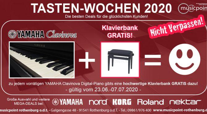 TASTEN-WOCHEN 2020: YAMAHA Clavinova + Klavierbank GRATIS = :-)