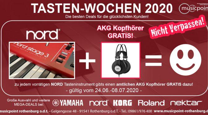 TASTEN-WOCHEN 2020: Clavia NORD + AKG Kopfhörer GRATIS = :-)