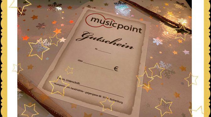 Freude schenken! …mit dem Musicpoint Gutschein!
