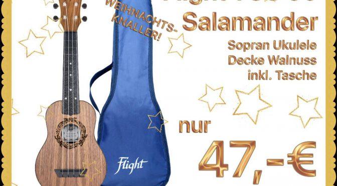 ab 12. Dezember: Flight TUS50 Salamander Ukulele für 47,-€