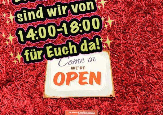 2. Dezember: 14:00-18:00 zusätzlich geöffnet!