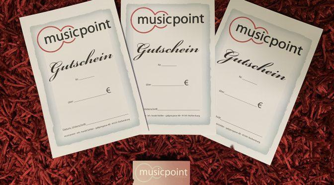 Musicpoint Gutscheine – immer das passende Geschenk für Musiker!