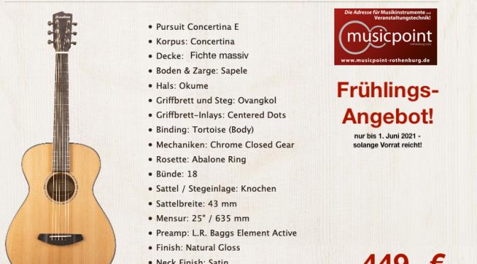 Spring Special! BREEDLOVE Pursuit Concertina für unglaubliche 449,-€